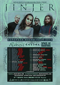 Jinjer/The Agonist/Khroma/Space Of Variations – Manchester, Academy 2 – 3 December 2019