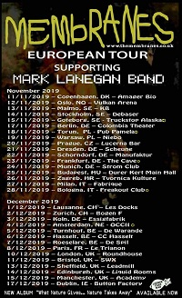 Mark Lanegan 2019 European tour poster