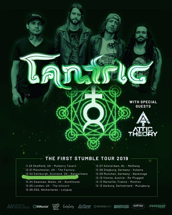 Poster for Tantric 2019 tour