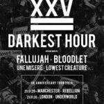 Darkest Hour/Fallujah/Bloodlet/Une Misère/Lowest Creature – Manchester, Rebellion – 20 January 2020