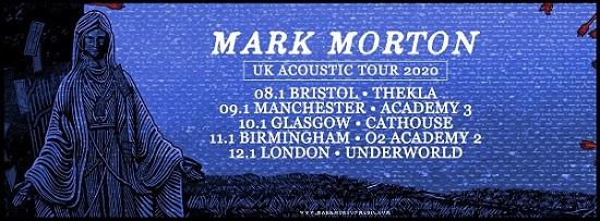 Poster for Mark Morton January 2020 solo tour