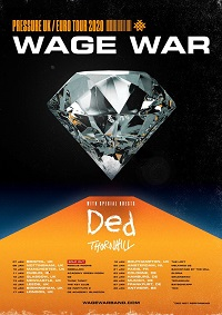 Poster for Wage War January 2020 European tour
