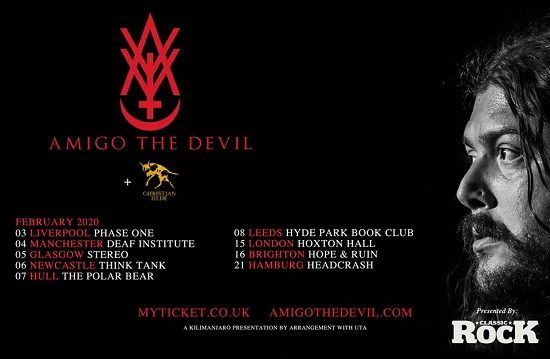 Amigo The Devil February 2020 tour header