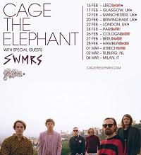 Cage The Elephant 2020 European tour poster