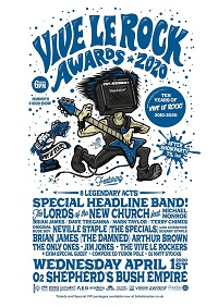 Flyer for 2020 Vive le Rock Awards