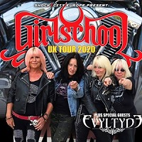 Girlschool 2020 tour promo photo