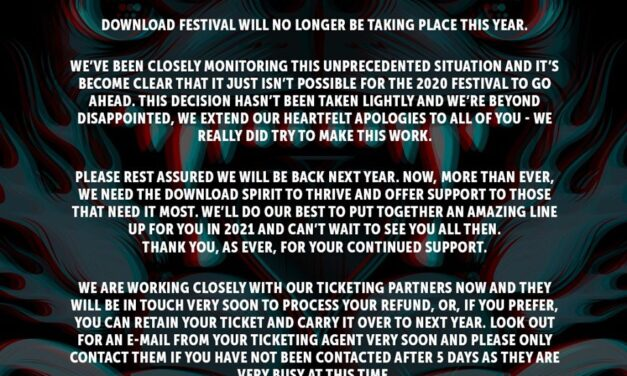 FESTIVAL NEWS: DOWNLOAD CANCELLED