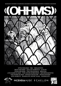 OHMMS March 2020 tour poster