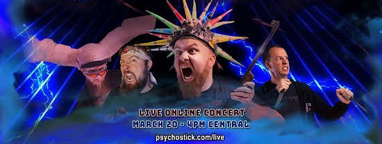 Facebook header for Psychostick virtual gig