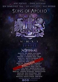 TOUR NEWS: Sons Of Apollo postpone European tour due to coronavirus