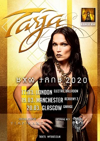 Poster for Tarja 2020 tour dates