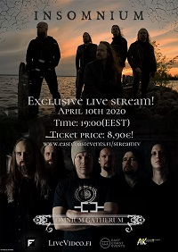 Poster for Insomnium and Omnium Gatherum live stream show