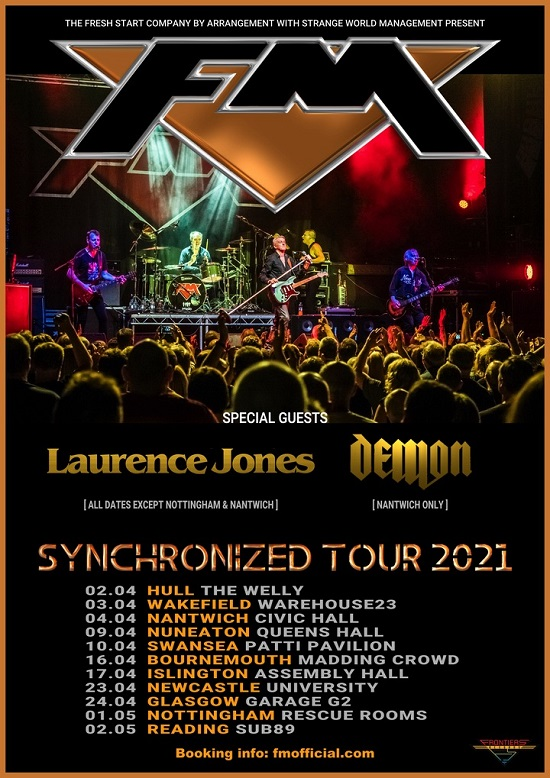 Poster for FM 'Synchronized' 2021 tour dates