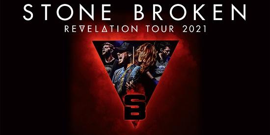 Flyer for Stone Broken Revelation 2021 tour