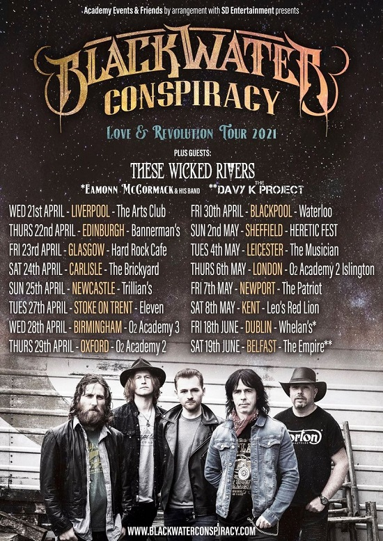 Poster for Blackwater Conspiracy 2021 tour