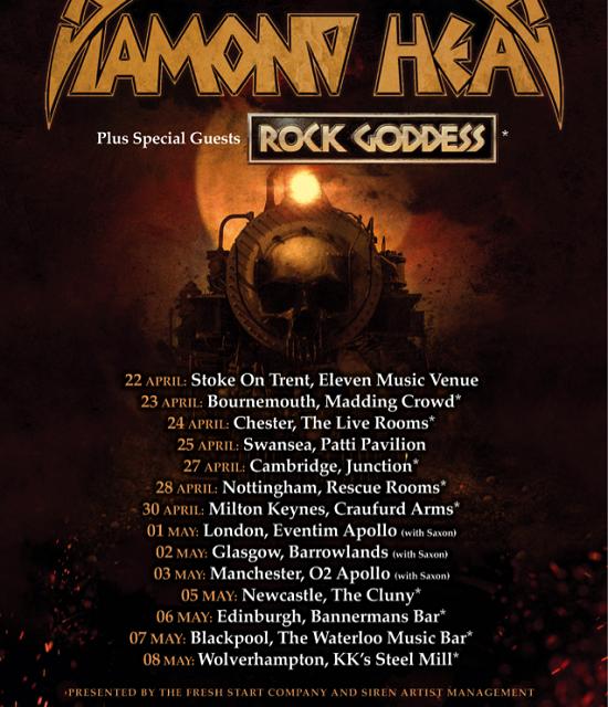 TOUR NEWS: Lightning strikes again as Diamond Head announce 2021 dates