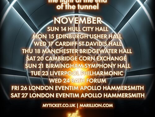 TOUR NEWS: Marillion to shine 'Light At The End Of The Tunnel'