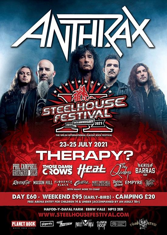 Steelhouse 2021 Anthrax poster