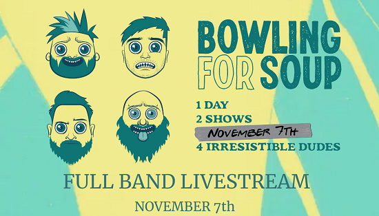 """GIG"" NEWS: Bowling For Soup confirm rescheduled livestream shows"