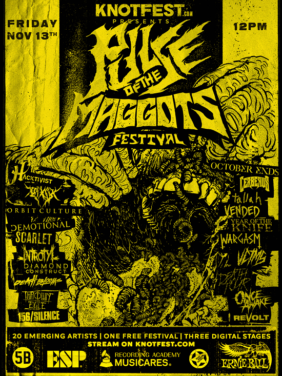 Poster for Knotfest 'Pulse Of The Maggots' online festival