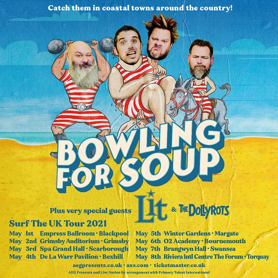 Poster for Bowling For Soup 2021 Surf The UK tour