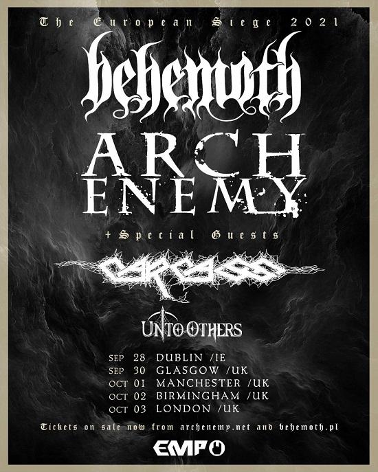 Poster for European Siege tour 2021