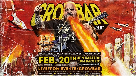 Crowbar – Live from New Orleans – 20 February 2021