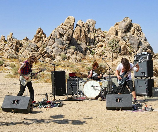 Mountain Tamer performing live in the Mojave Desert