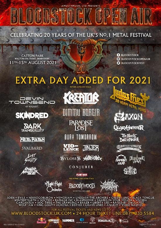 Updated Bloodstock 2021 poster