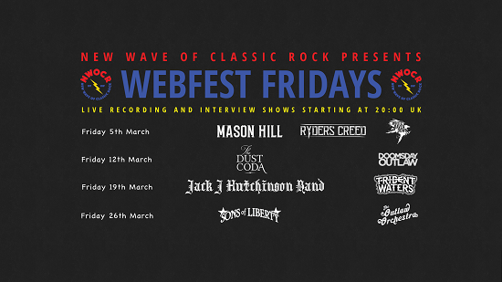 Poster for the NWoCR Webfests in March 2021
