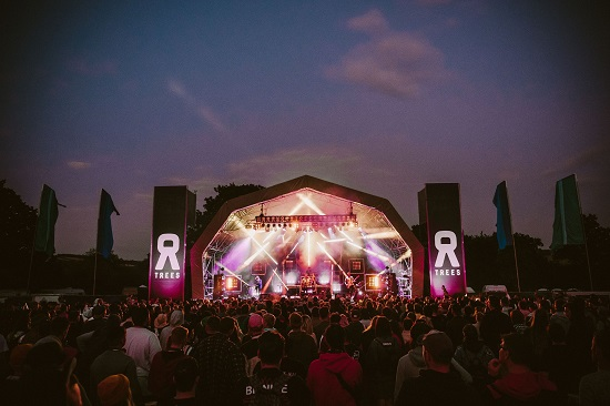 The main stage at the 2000trees Festival