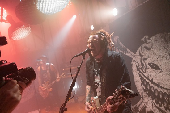 Still from the By Request live stream by The Wildhearts