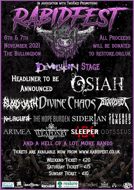 Updated poster for Rabidfest