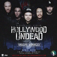 Poster for Hollywood Undead 'Unhinged' live stream
