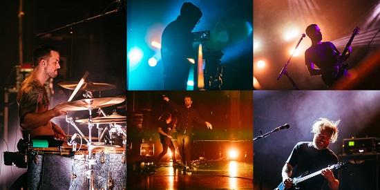 Video stills from Karnivool's 'Sound Awake' live stream event