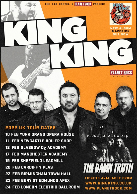 Poster for King King 2022 tour