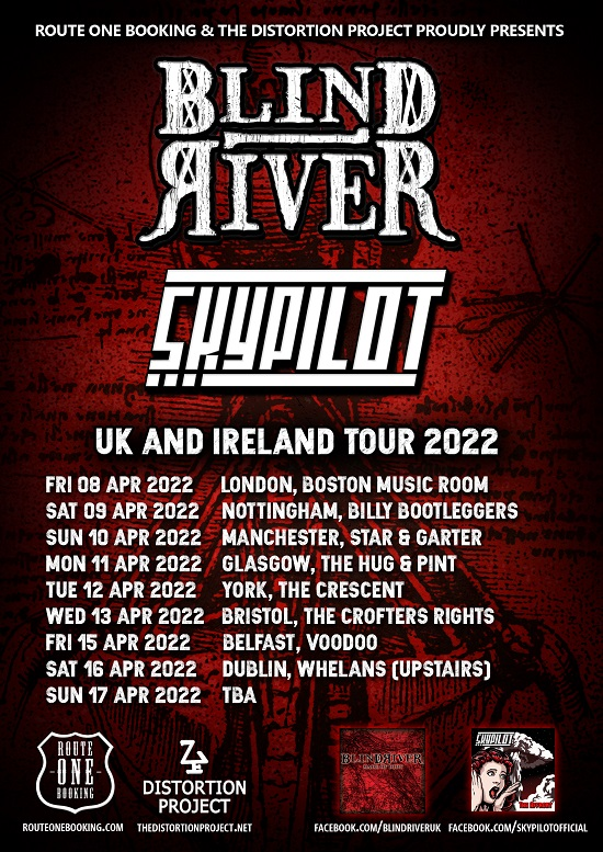 Poster for Blind River 2022 tour dates
