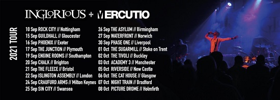 Poster for Inglorious 2021 tour