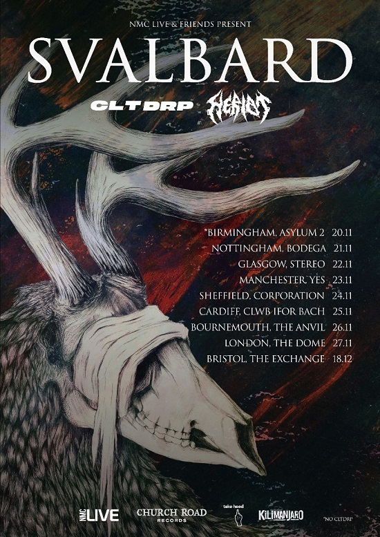 Poster for Svalbard November 2021 tour dates