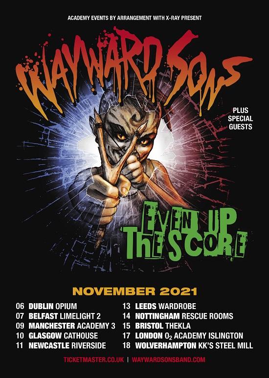 Wayward Sons 2021 tour dates