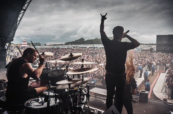 Bleed From Within at the Download Pilot festival