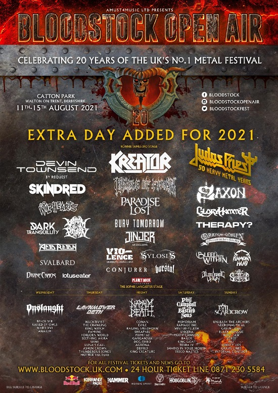 Updated poster for Bloodstock 2021