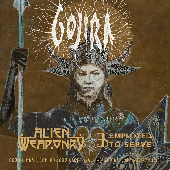 Teaser poster for Gojira's 2022 tour