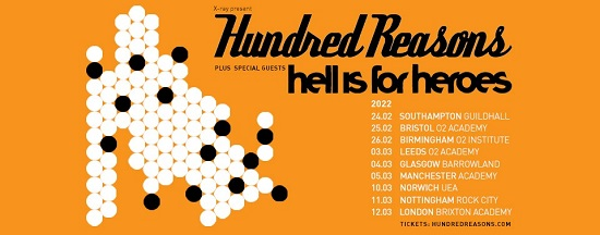 Poster for Hundred Reasons 2022 tour dates