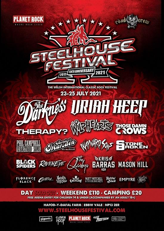 Updated poster for Steelhouse Festival 2021
