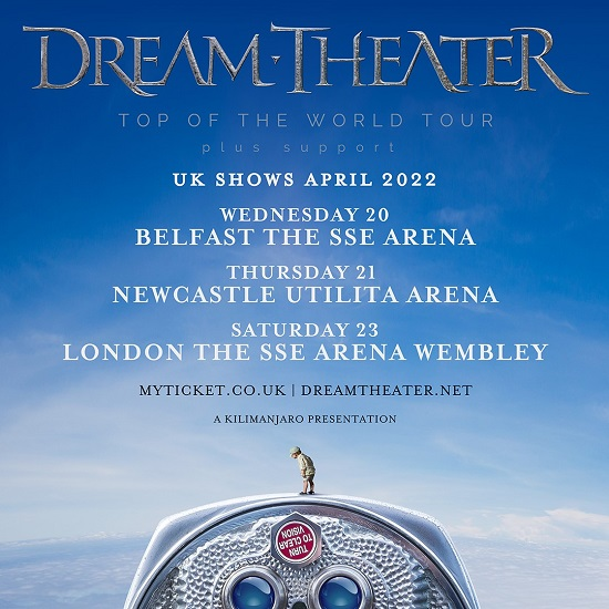 Poster for Dream Theater 2022 arena tour