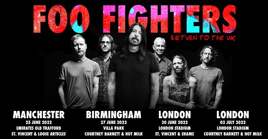 TOUR NEWS: Foo Fighters announce summer stadium shows