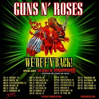 Poster for Guns N' Roses 2021 WE'RE F'N BACK US tour