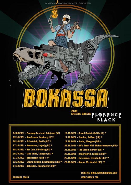 Bokassa 2021 tour poster
