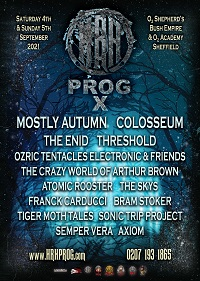 Poster for HRH Prog X at the O2 Academy, Sheffield